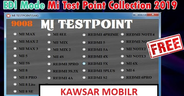 Mi 2 edl mode test point