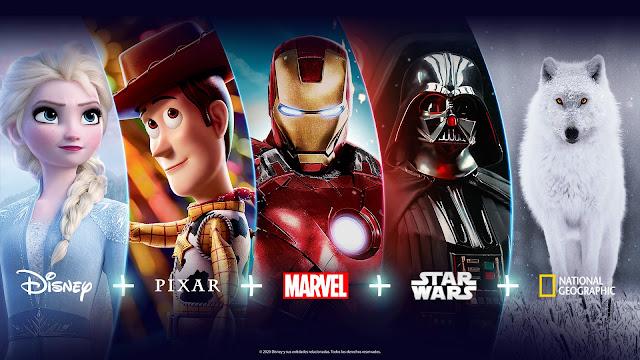 """A partir de novembro, Disney+ (""""Disney plus"""") é a nova casa de Disney, Pixar, Marvel, Star Wars e National Geographic na América Latina"""