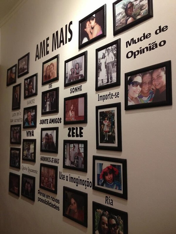 photo frame with wall stickers