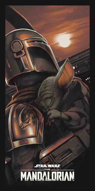 "The Mandalorian ""New Horizon"" Star Wars Screen Print by Juan Ramos x Bottleneck Gallery"