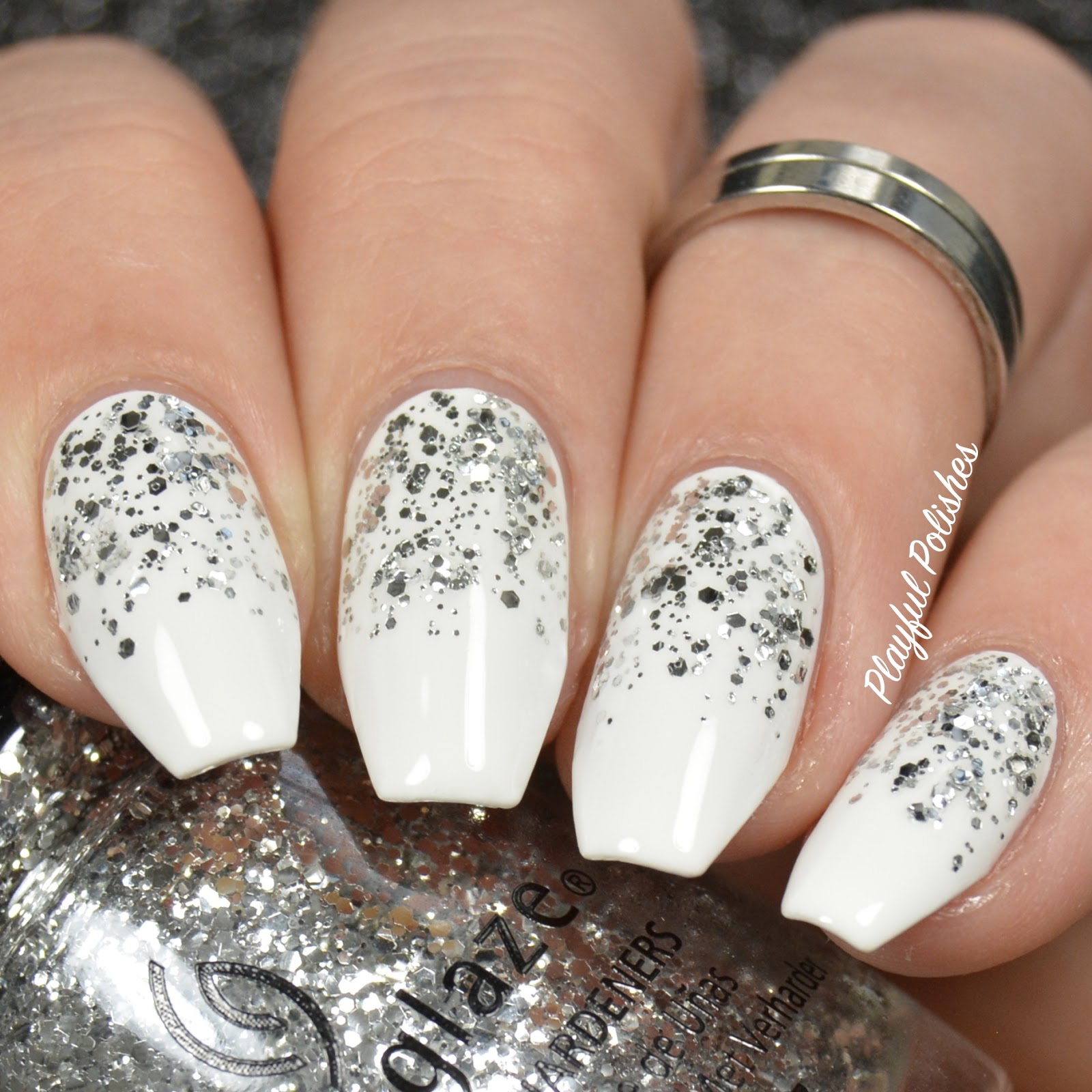 Playful Polishes: 3 SIMPLE & ELEGANT NEW YEARS NAIL DESIGNS!!