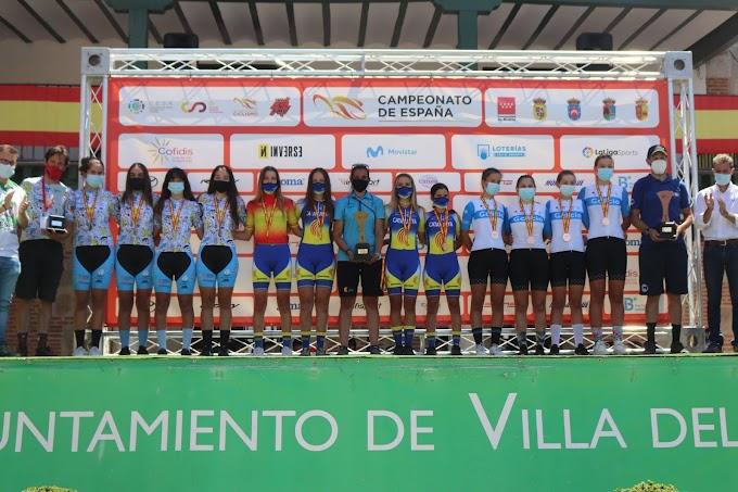 La Selección de Galicia cerró con dos bronces femeninos, en el BTT, los Campeonatos de España Escolares