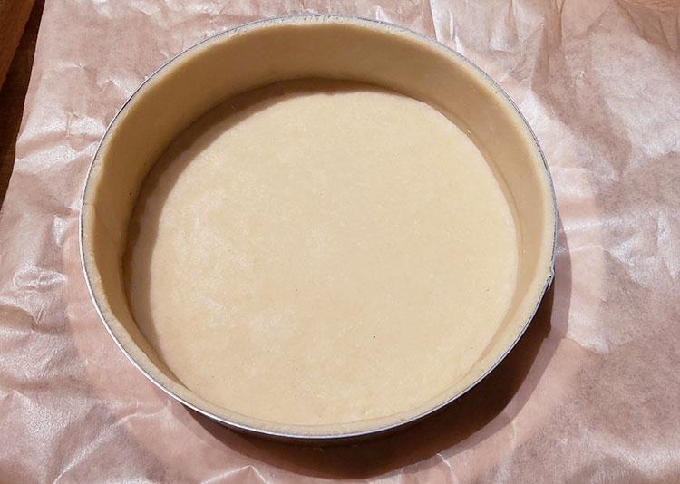 Fonçage pâte brisée