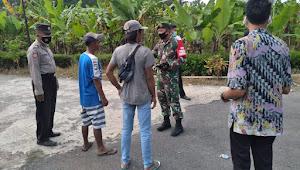 Semua Unsur Di Wilayah Tempursari Lumajang Kompak Serukan Taati Prokes