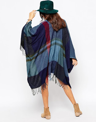 Esprit Colour Block Check Cape