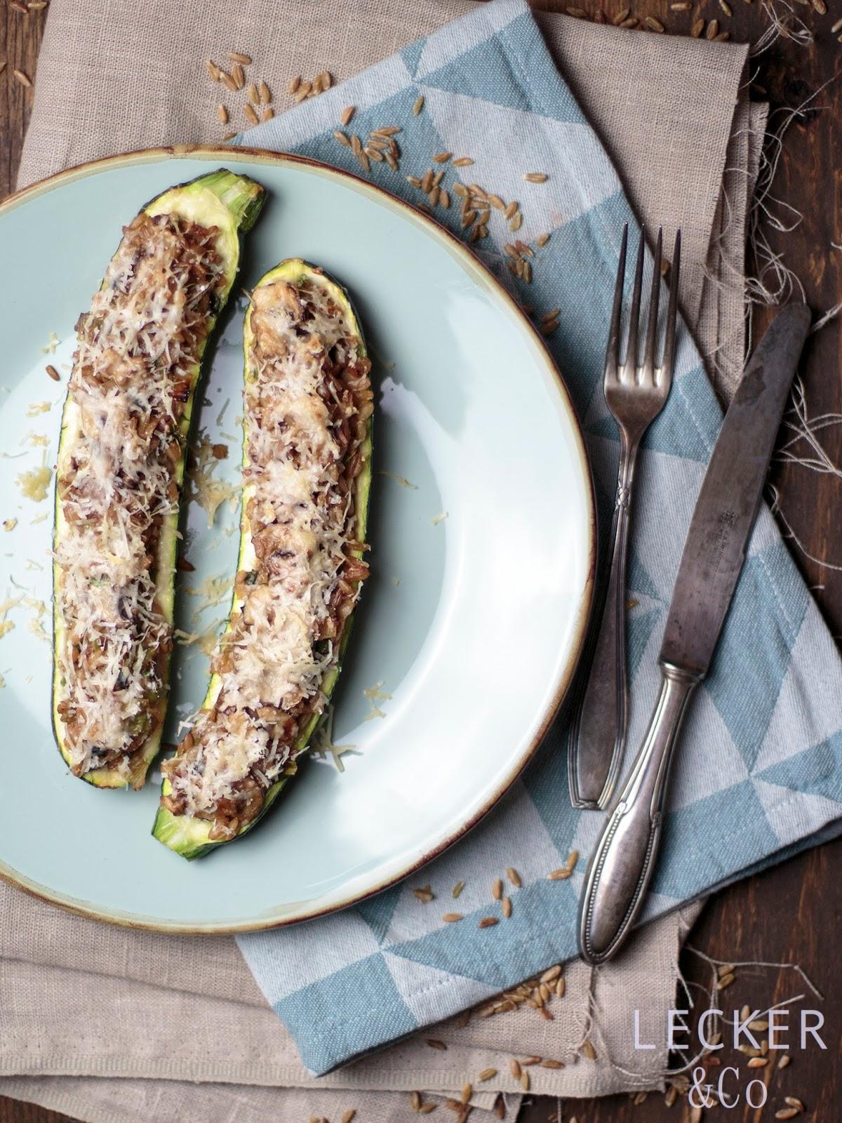Vegetarischer zucchini kuchen