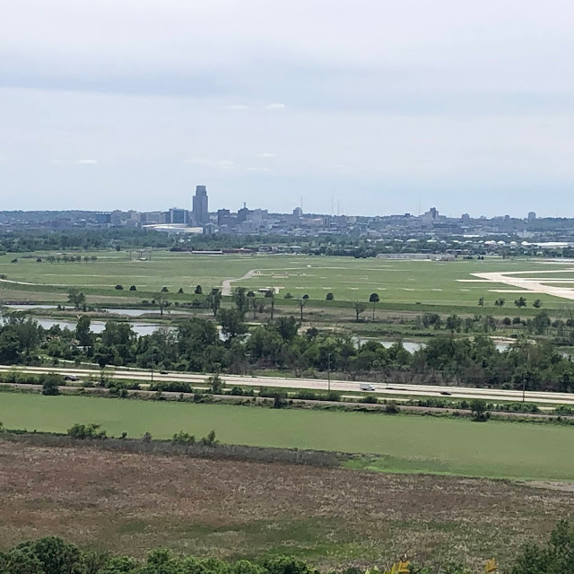 Omaha unfolded before us as we stood at the overlook at Lewis & Clark Monument Park.