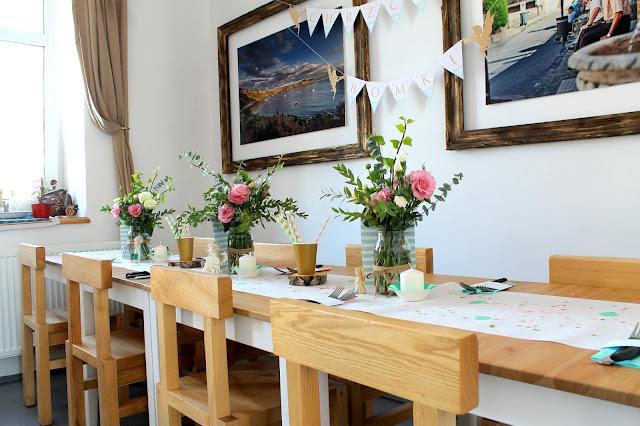 kwiaty, dekoracje na przyjęcia, personalizowane dekoracje, wiewiórka i spółka