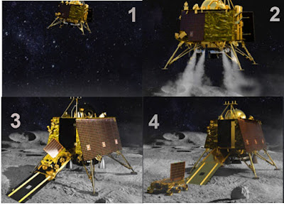 Vikram Lander landing on moon