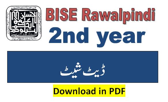 2nd year date sheet 2021 rawalpindi board