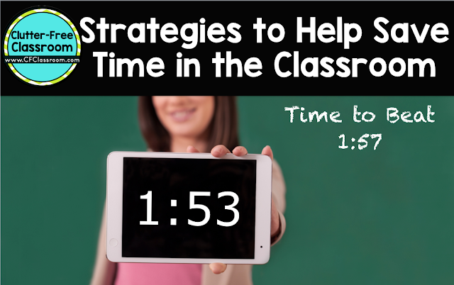 Teachers often wonder how to save time in the classroom. This post shares classroom management transition strategies.
