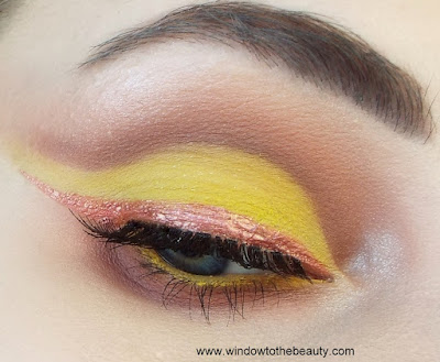 peach yellow makeup