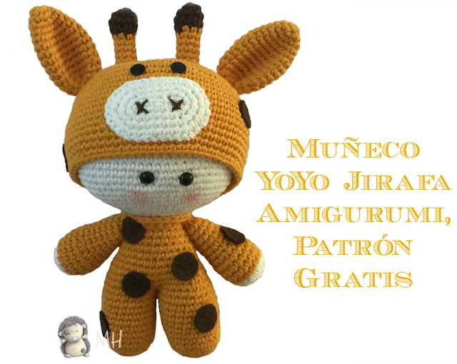 Yoyo jirafa amigurumi