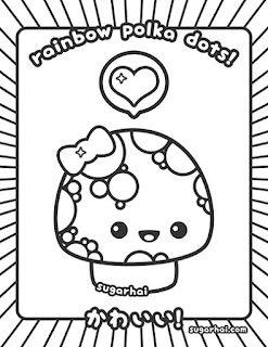 easy Kawaii coloring pages