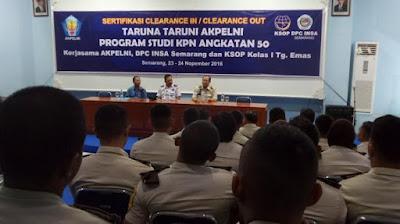 INSA Cabang Semarang dan Akpelni Gelar Port Clearance