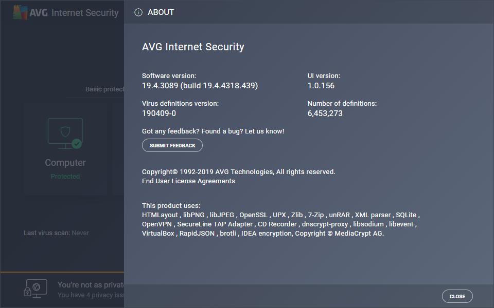 AVG Internet Security 2019 v19.4.4318 Full version