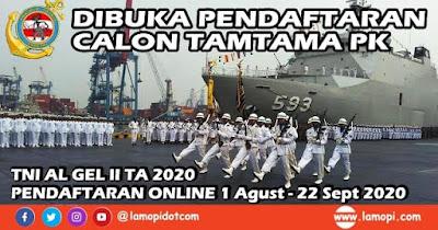 Pendaftaran Calon TAMTAMA TNI AL Tahun 2020