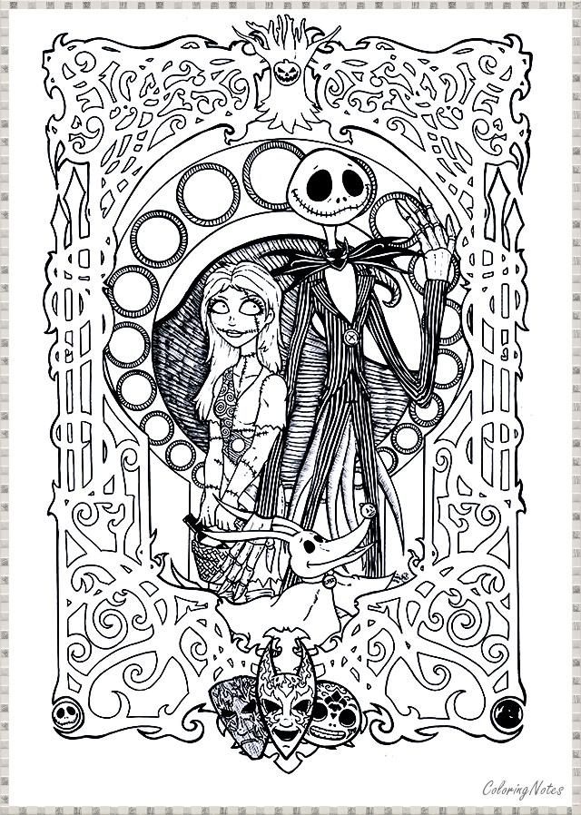 the nightmare before christmas coloring pages jack skellington ... | 898x640