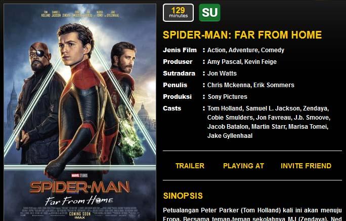 spiderman far from home untuk semua umur