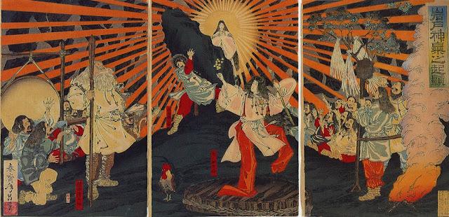 Pintura Sobre o Conto de Amaterasu