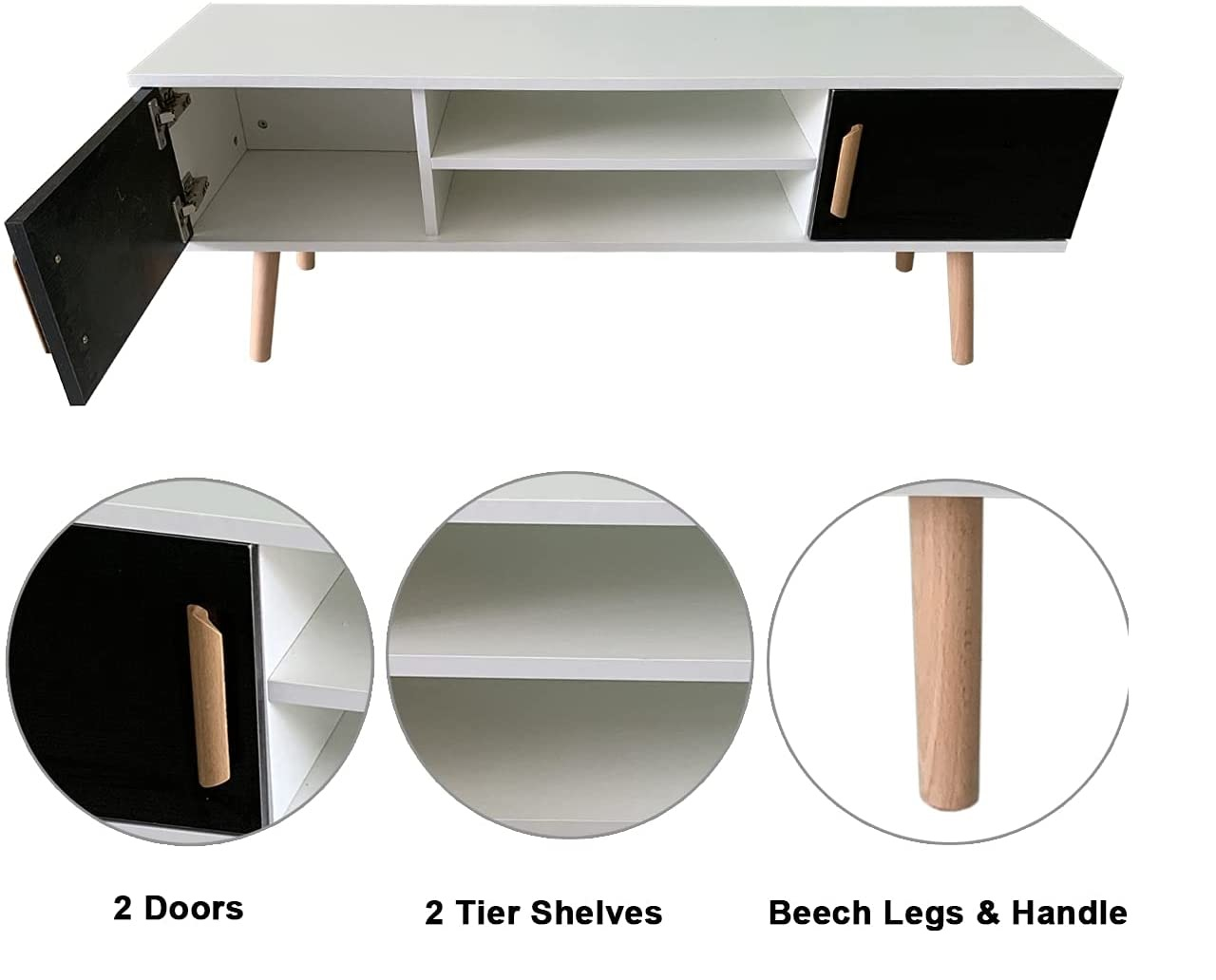 Best DIY Minimalist Living room wooden cabinet with sholves design ideas