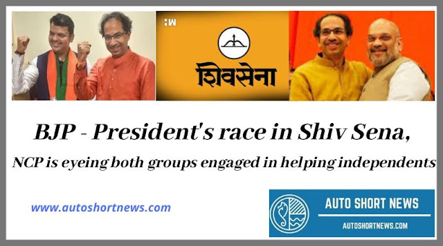 BJP - President's race in Shiv Sena, NCP is eyeing both groups engaged in helping independents