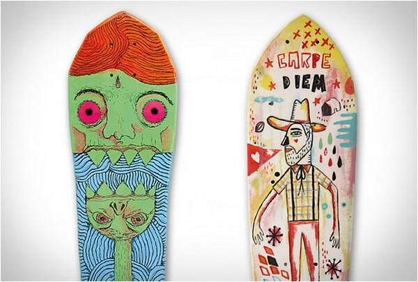 creative skateboard designs and colors