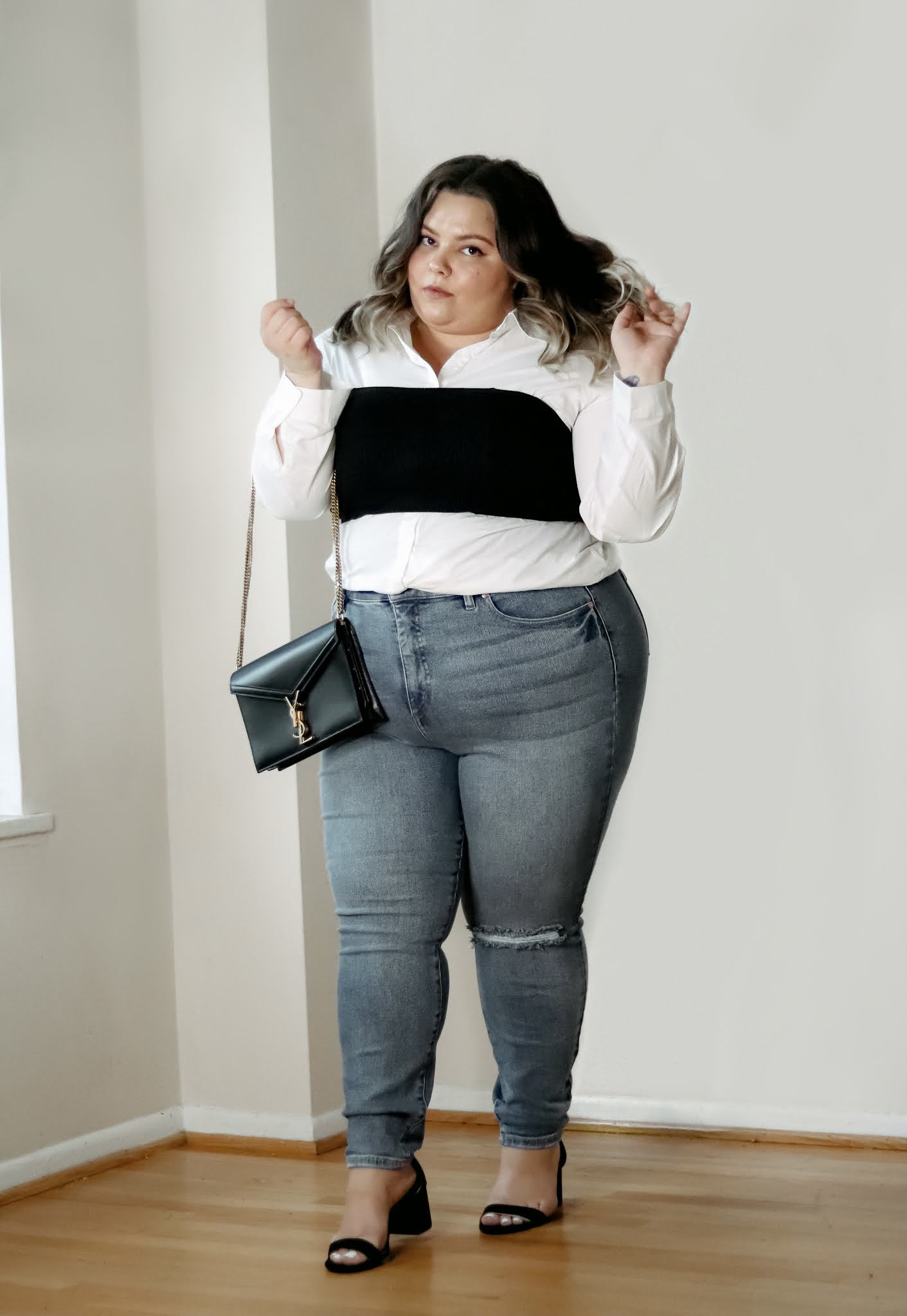 Chicago Plus Size Petite Fashion Blogger Natalie in the City reviews skinny jeans and cute quarantine outfits