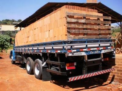 Preço do caminhão de tijolo