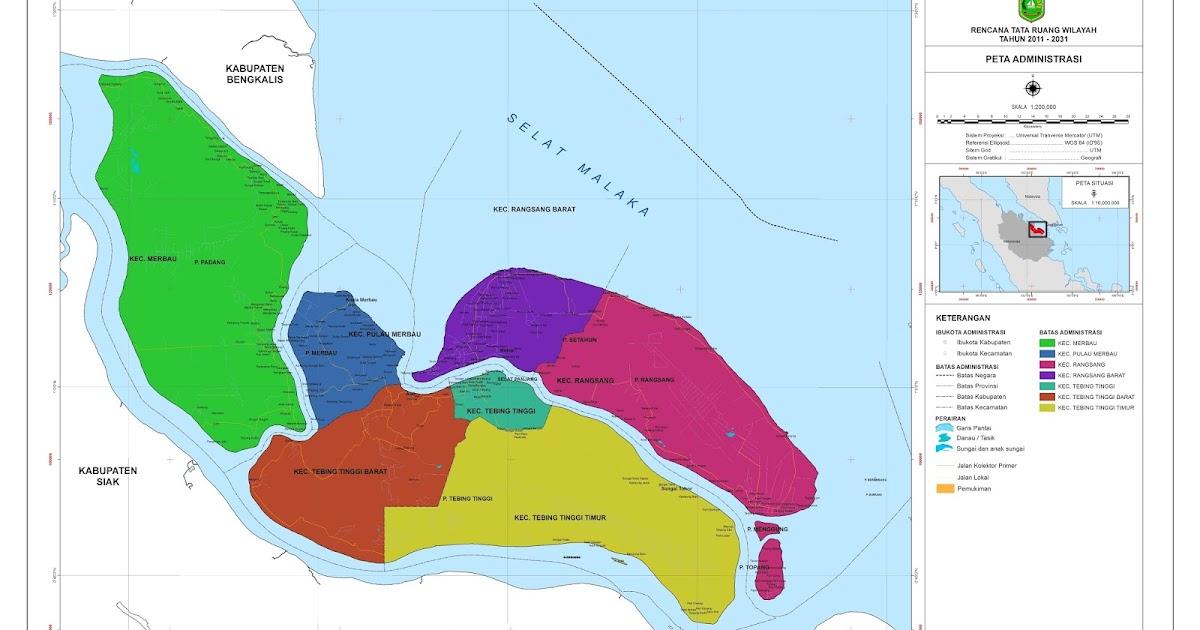 Peta Kabupaten Kepulauan Meranti