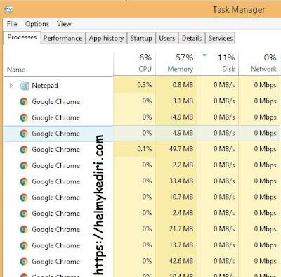 Membuka lebih dari 5 tab browser