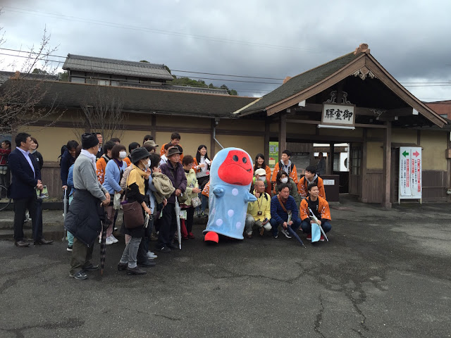 嵐電仁和寺駅にて