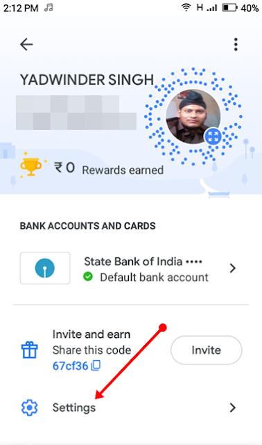 google-pay-setting-option