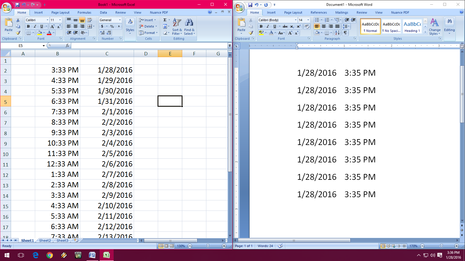 Learn New Things Shortcut Key To Insert Date Amp Time In Word Amp Excel 03 07 10 13 Amp 16