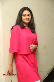 Actress Arundathi Nair Stills in Red Chididar at Bethaludu Success Meet  0040.JPG
