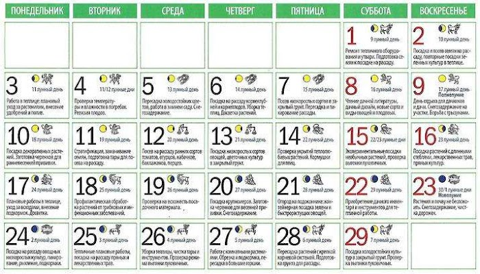 Подробный лунный календарь на февраль 2020 года