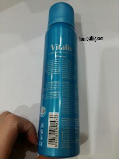 tampak belakang vitalis fragranced body spray glamorous dream