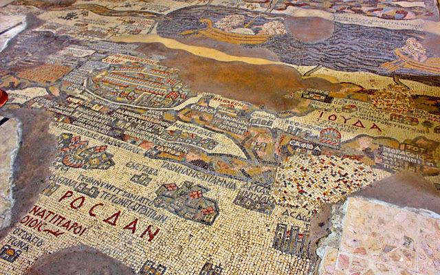 Madaba Mosaic Map in Saint George Church