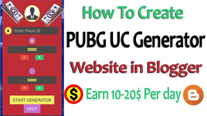 PUBG UC Generator Fake Script For Blogger