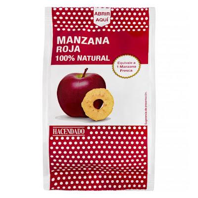 Manzana roja natural deshidratada Hacendado