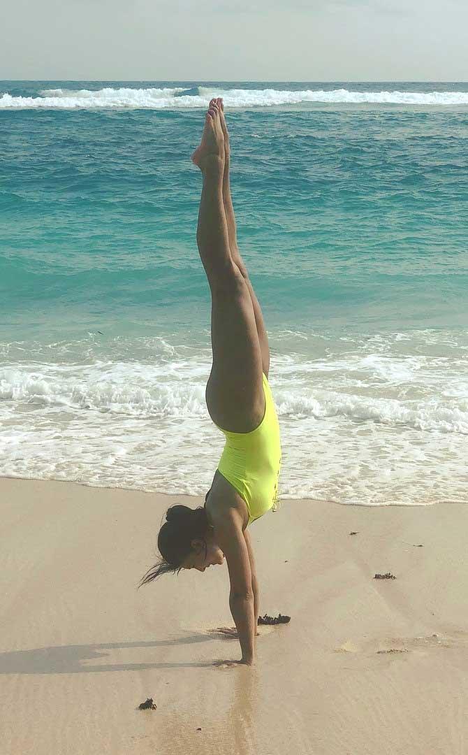 Jacqueline Fernandez inyellow  bikini Swimsuit