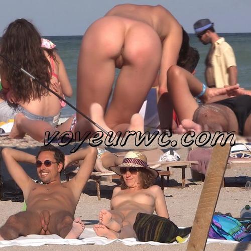 Girls Nude Nudist Beach Voyeur Ass Pussy Tits (NudeBeach sb15059-15071)