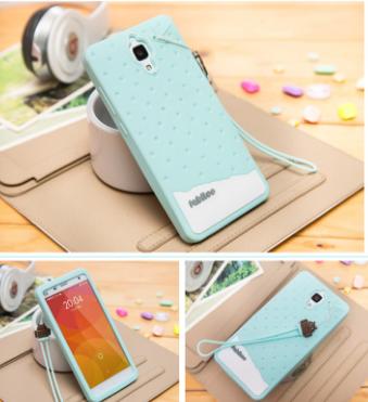 Fabitoo Cute Bunny Case Untuk Xiaomi Mi4 blue/biru