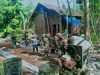 Kerja Keras TNI Dan Warga Selesaikan Target Sasaran Fisik TMMD