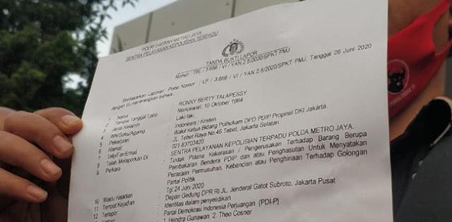 Polda Metro Jaya Resmi Terima Laporan PDIP Soal Pembakaran Bendera