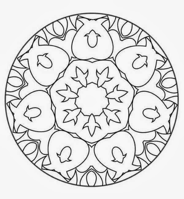 131 flower mandala coloring pages for beginner for Mandala coloring pages for beginners