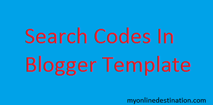 How To Search Codes Easily In Blogger