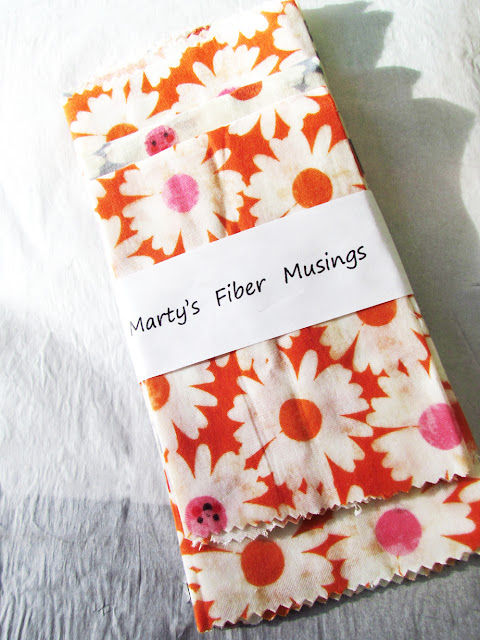 bundled waxed double gauze cotton food wraps by Marty Mason