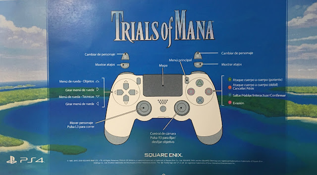 Controles Trials of Mana para PS4