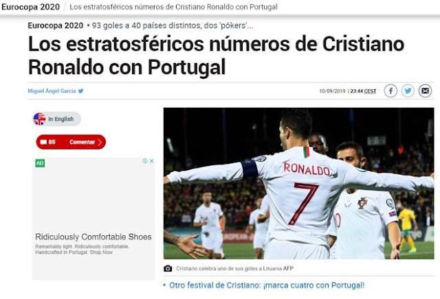 """Ronaldo chói sáng 4 bàn: Báo chí thế giới ngả mũ kính nể """"vua châu Âu"""" 5"""